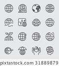 Earth concept line icon 31889879