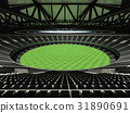 Australian rules football stadium with black seats 31890691