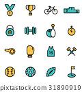icon, sport, line 31890919