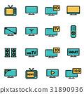 tv, icon, vector 31890936