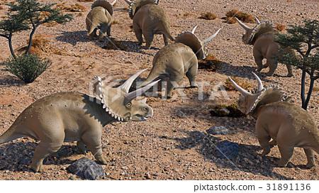 Triceratops 3D rendering 31891136