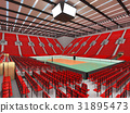 arena, volleyball, beautiful 31895473