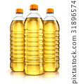 Group of plastic bottle with vegetable cooking oil 31896574