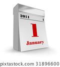 Tear-off calendar 2011 31896600