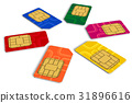 Circle from color SIM cards 31896616
