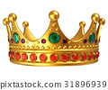 Golden royal crown 31896939
