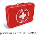 Red first aid case 31896954