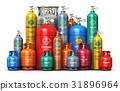 Set different industrial liquefied gas containers 31896964
