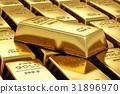 Stacks of gold bars 31896970