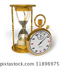 Hourglass and stopwatch 31896975