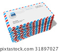 Stack of paper mail letters 31897027