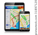 GPS navigation on mobile devices 31897120