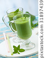 spinach, smoothie, mint 31897439