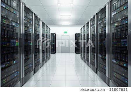 Server room in datacenter 31897631