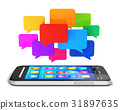 Mobile communication and social media concept 31897635