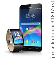 Smartphone and smart watch 31897651