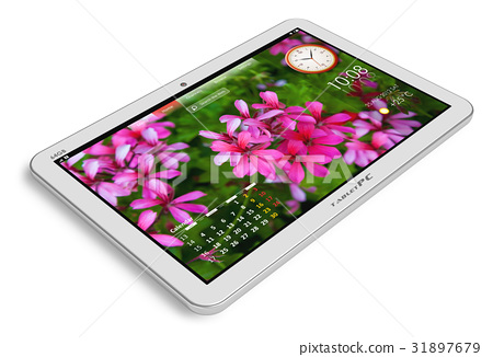 White tablet PC 31897679