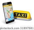 Internet taxi service concept 31897681