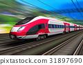 High speed train 31897690