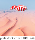 Space capsule over a desert landscape 31898944