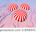 Space capsule over a desert landscape 31898945