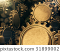 Golden gears abstract background.3D rendering. 31899002