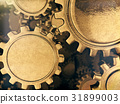 Golden gears abstract background.3D rendering. 31899003