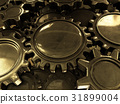 Golden gears abstract background.3D rendering. 31899004