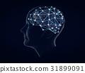 Gears in shape of brain  31899091