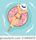 woman donut inflatable 31900055
