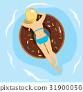 woman donut inflatable 31900056