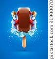 Ice-cream chocolate vanilla ice and cartoon 31900070