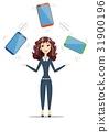 electronic, businesswoman, gadget 31900196