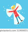 girl, snow, vector 31900655