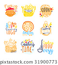 Cooking food easy logo design, set of colorful 31900773