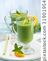 spinach, smoothie, mint 31901954