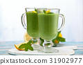 spinach, smoothie, mint 31902977