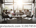 business team with computers working at office 31907859