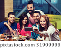 friends, restaurant, smartphone 31909999