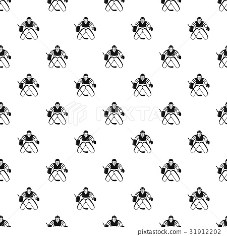 Hockey goalkeeper pattern vector 31912202