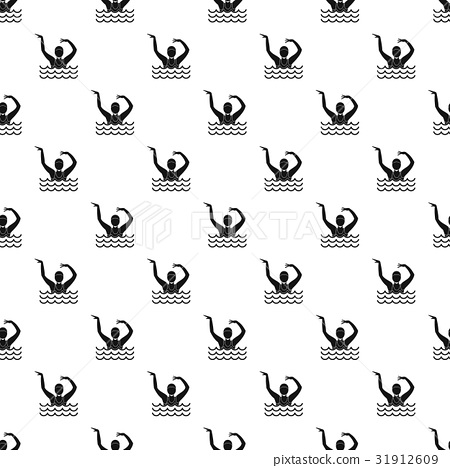 Swimmer in a swimming pool pattern vector 31912609