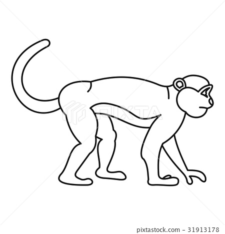 Mandrill monkey icon, outline style 31913178