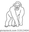 outline, monkey, animal 31913404
