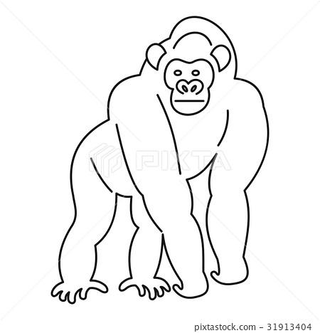 Monkey icon, outline 31913404
