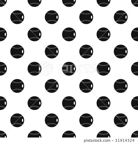 Baseball ball pattern vector 31914324