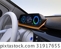 Automatic driving image of dashboard of EV car 31917655