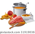 cooking hot soup 31919036
