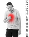 man suffering from acid reflux 31919114