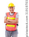 successful and tough senior construction worker 31919703