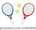 网球 矢量 网球拍 31920699